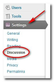 Choose the Discussion option under Settings