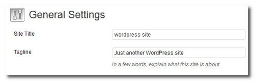 Change your WordPress title and tagline
